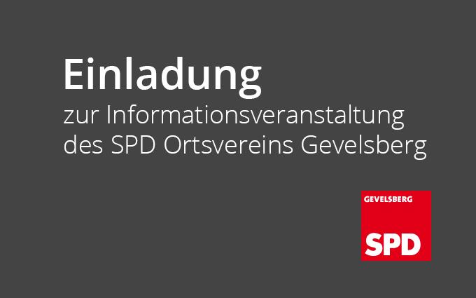 Einladung Zur Informationsveranstaltung Des SPD Ortsvereins Gevelsberg