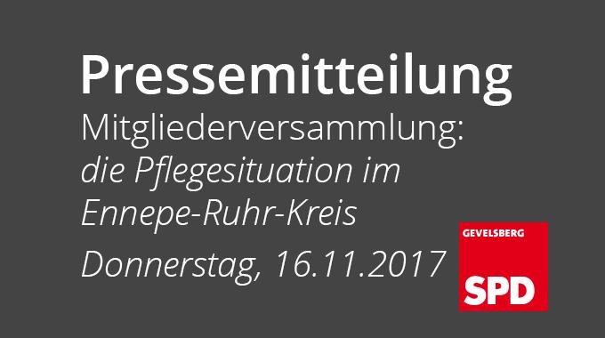Pressemitteilung Des SPD Ortsvereins Gevelsberg