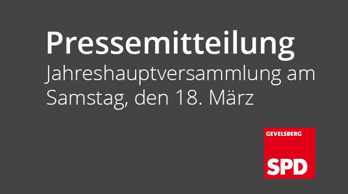 Pressemitteilung: Jahreshauptversammlung Des SPD Ortsvereins Vogelsang  Am Samstag, Den 18. März