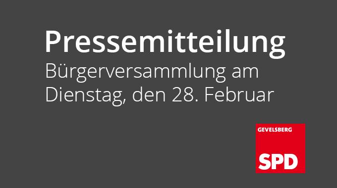 Pressemitteilung: Bürgerversammlung Am Dienstag, Den 28 Februar