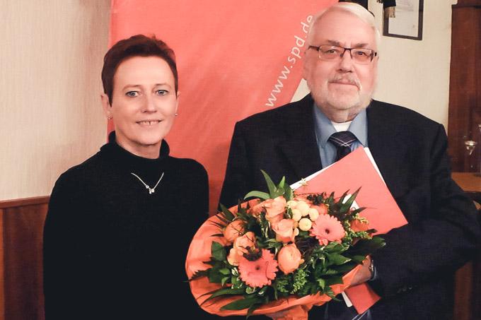 Ehrung: Elke Kramer, Detlef Erm