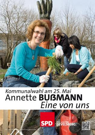 Wahlplakat Annete Bussmann