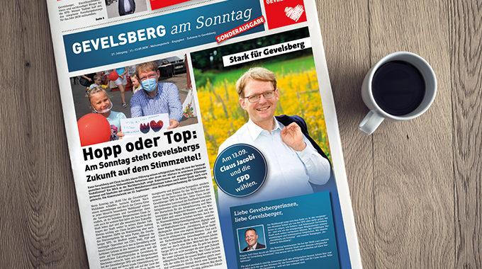 Gevelsberg Am Sonntag: Sonderausgabe Zum Wahlwochenende Erschienen