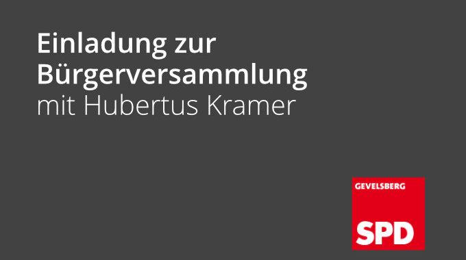Einladung Zur Bürgerversammlung Mit Hubertus Kramer Am 17.02.2020