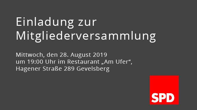 Mitgliederversammlung Des SPD Ortsvereins Vogelsang